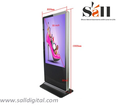 55 Inch wholesale HD floor stand digital signage with free digital signage software SL-039X