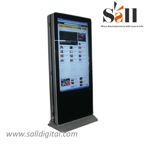 Dual screen 3g wifi network advertising player with infrared touch screen SL-033X