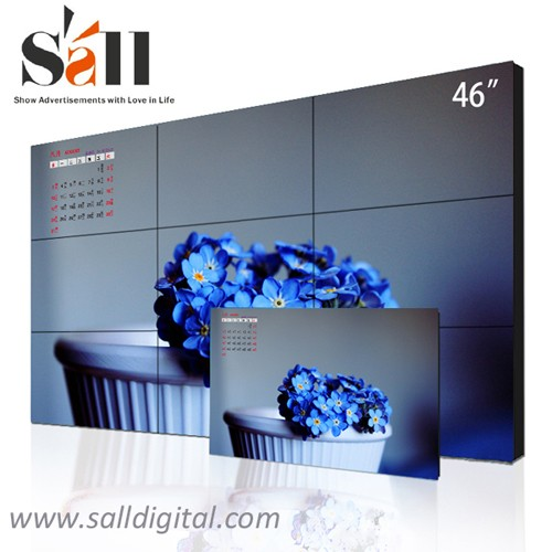 46 Inch wall mounted digital LCD video wall display with hd 1080p hdmi input SL-VW460